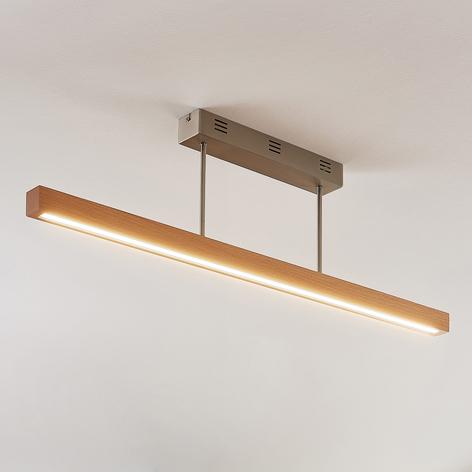 Plafonnier LED Tamlin en bois, hêtre