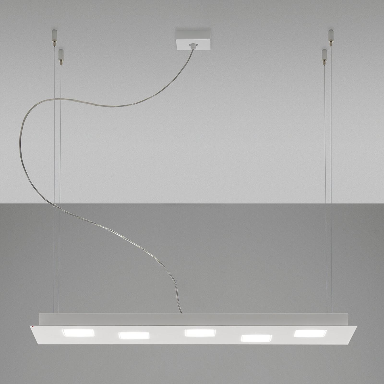 Suspension LED long Quarter en blanc