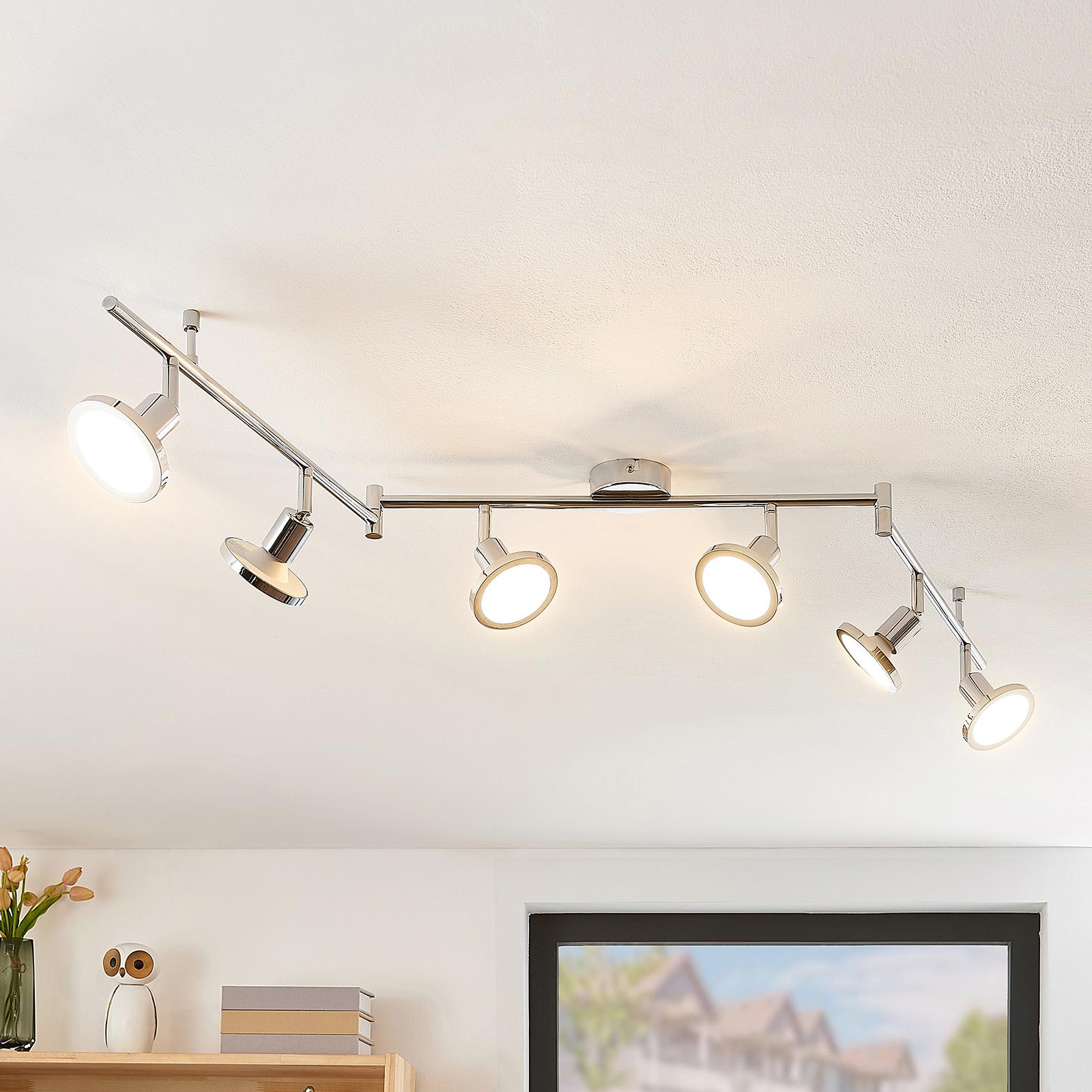 Lindby Ayden LED-takspot, seks lyskilder