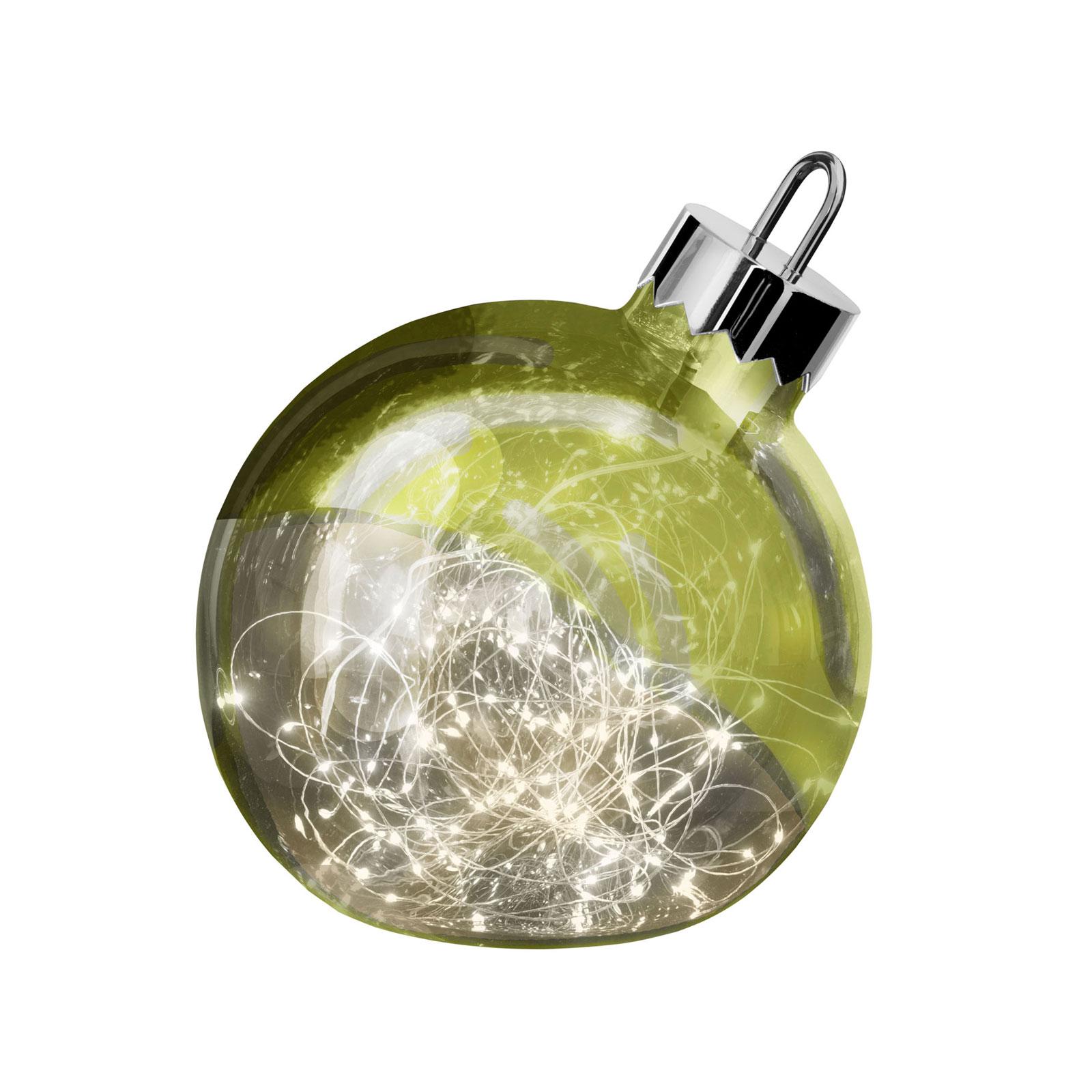 Dekoleuchte Ornament, grün, Ø 25 cm