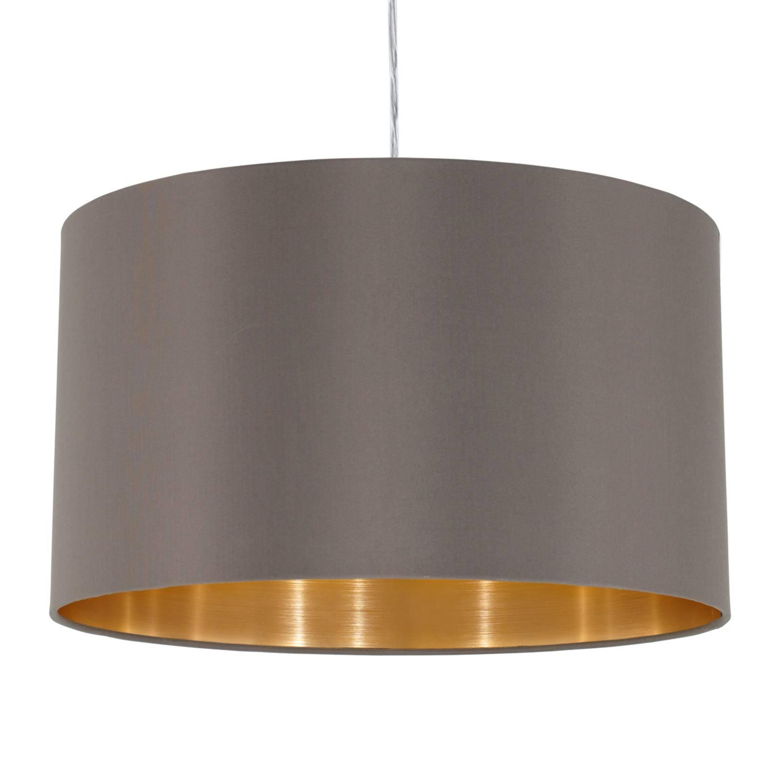 Textiel-hanglamp Maserlo, cappuccino, 38 cm