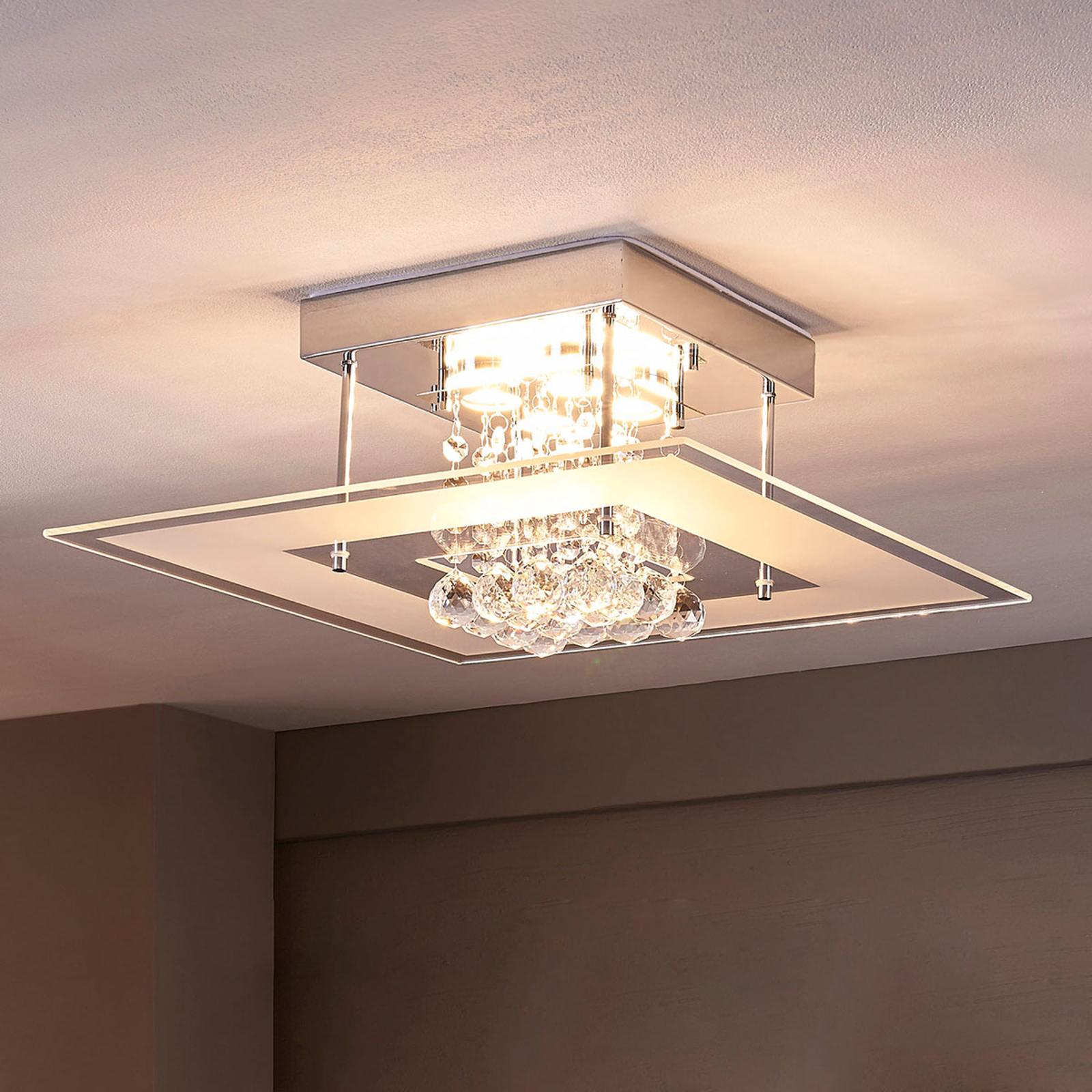 Iøynefallende LED-taklampe Lisandra til bad