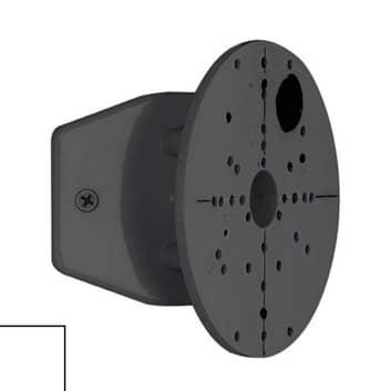 Hoekaansluiting voor buitenverlichting zwart/wit