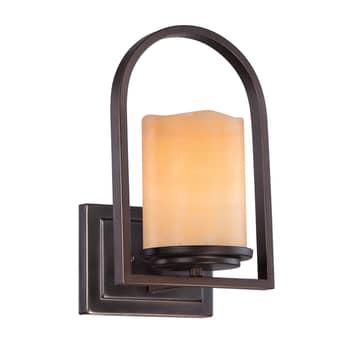 Aldora væglampe med onyx-skærm
