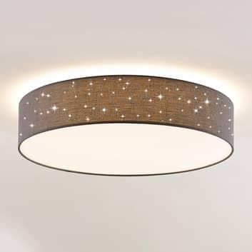 Lindby Ellamina plafonnier LED, 60cm, gris foncé
