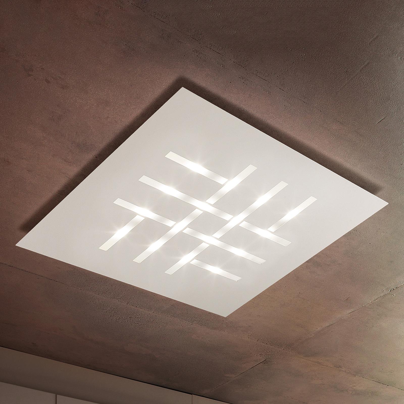 Pattern - quadratische LED-Deckenlampe, weiß