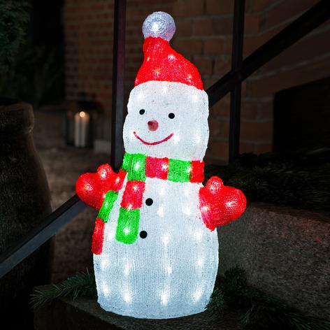 LED-Leuchtfigur Schneemann aus Acryl