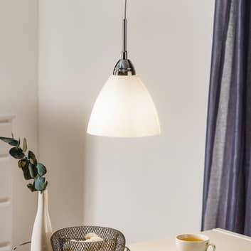 Opalvit glastaklampa Read, 20 cm