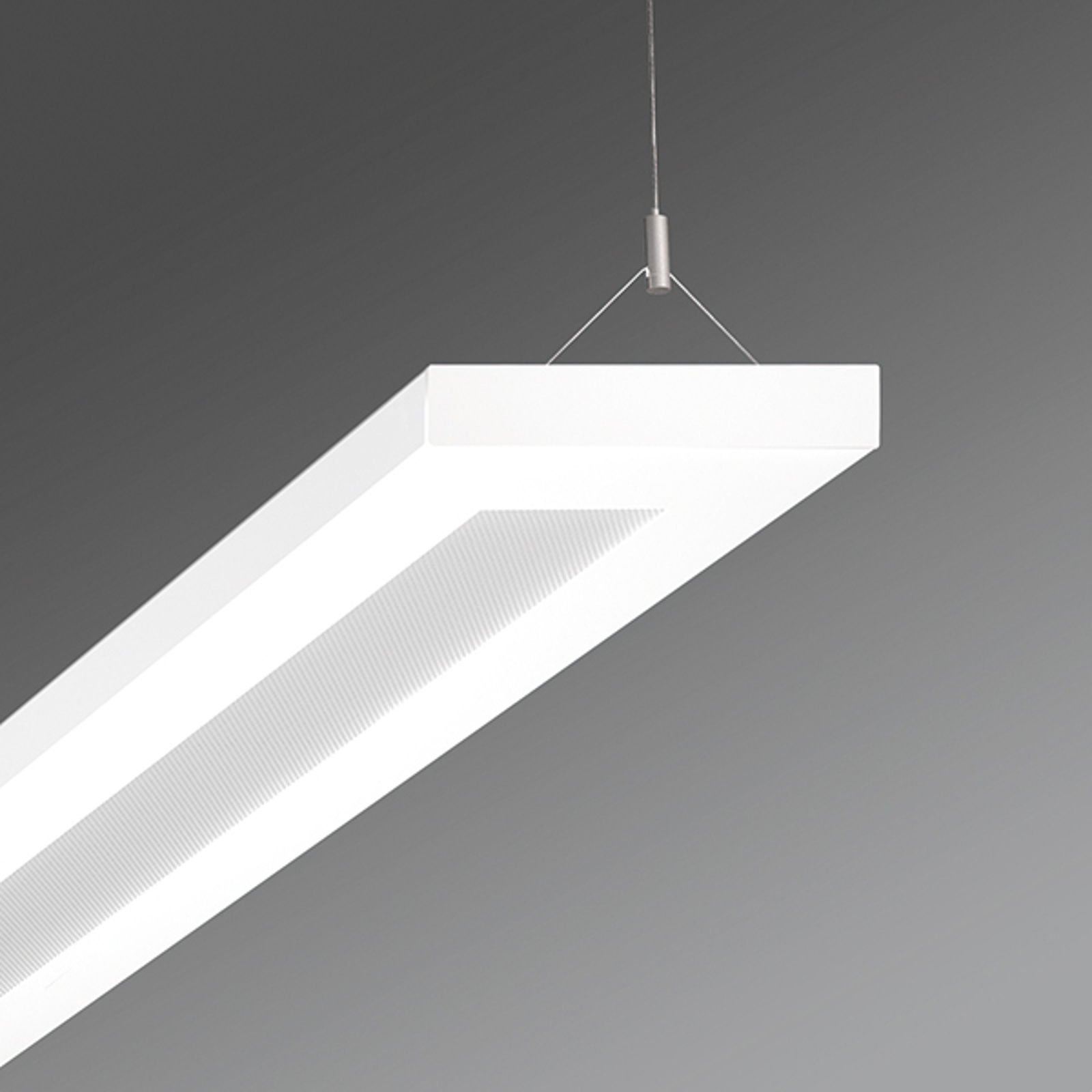 LED-Büro-Pendelleuchte Stail mikroprisma 32W weiß