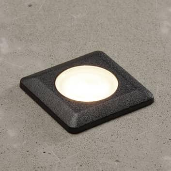 LED-Einbauleuchte Aldo eckig schwarz/klar 3.000K
