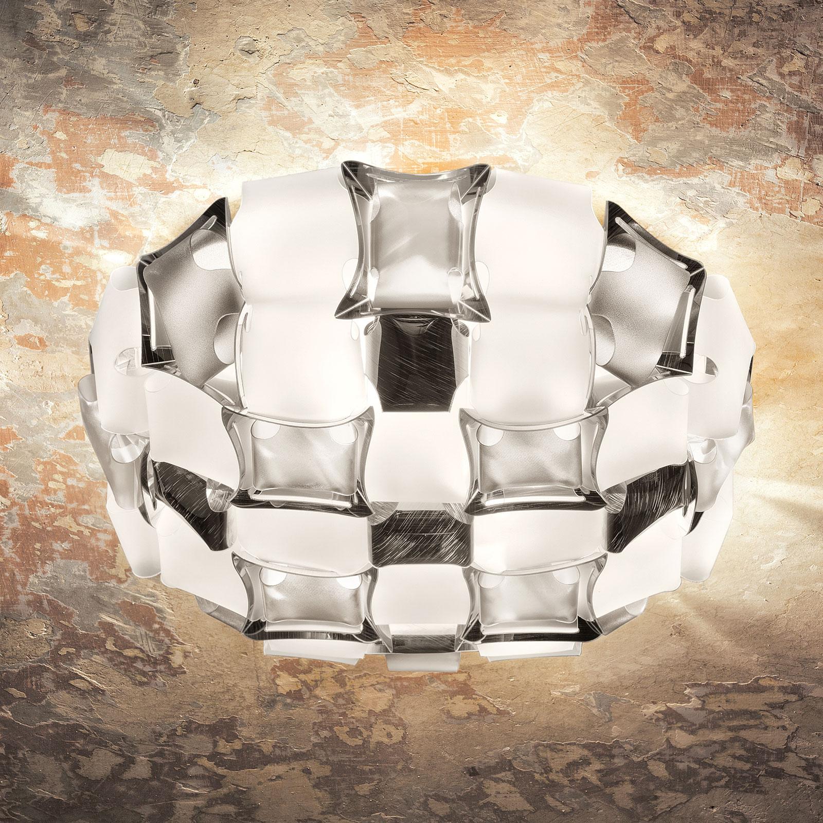 Slamp Mida plafonnier, Ø 67cm, platine/blanc