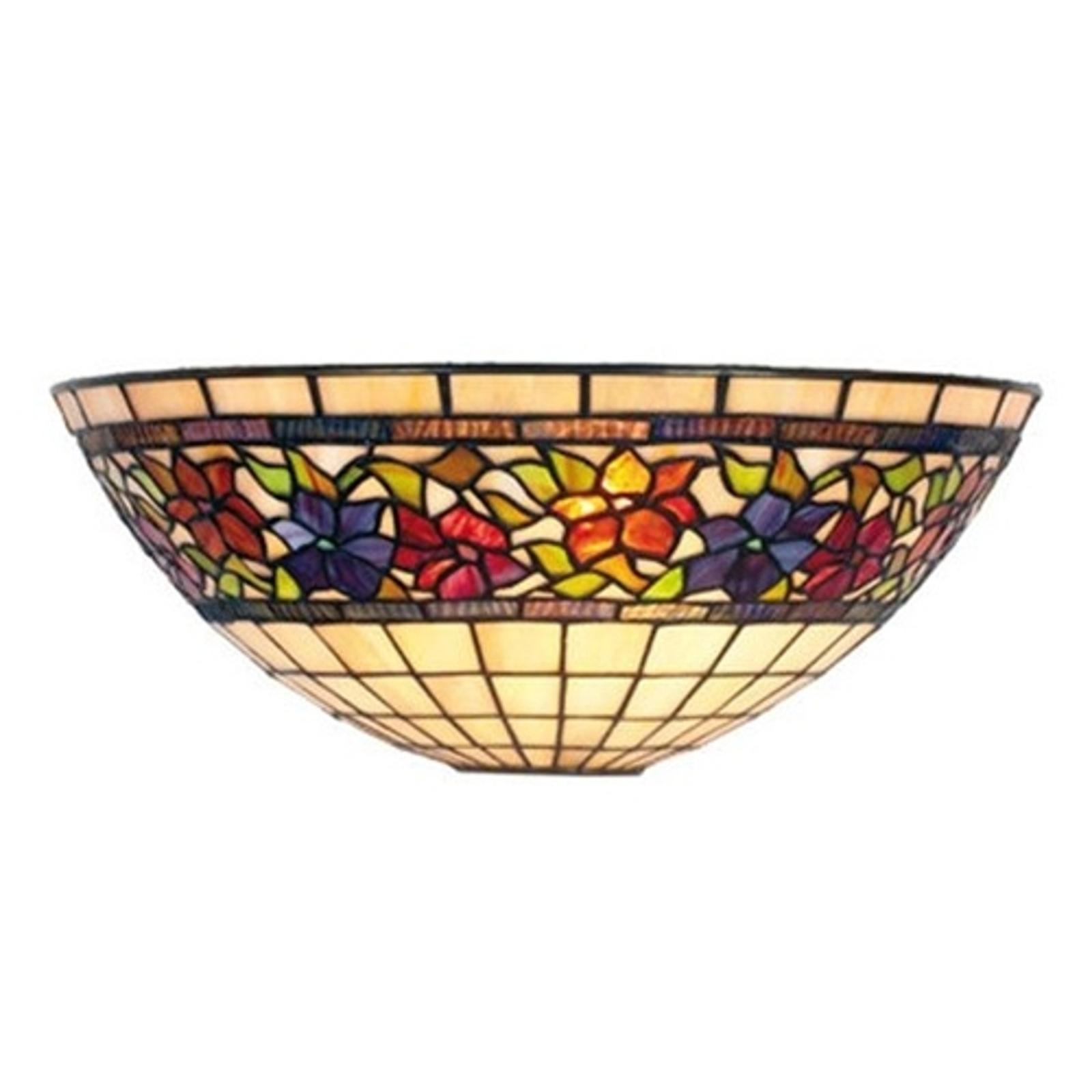 Nástěnné světlo Flora, Tiffanystyl,nahoru otevřené