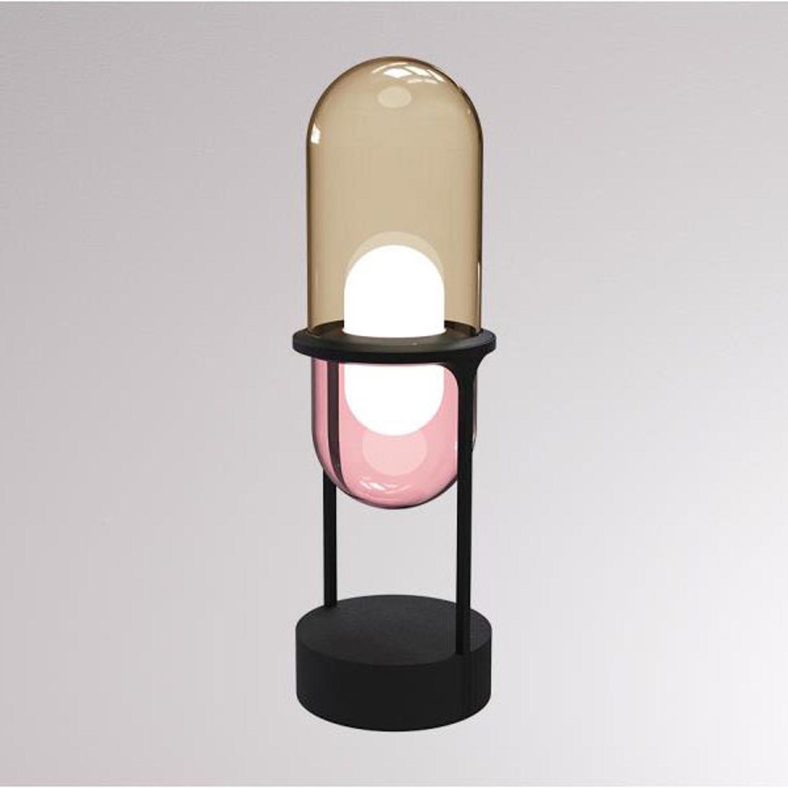 LOUM Pille LED-bordlampe champagne/rosa