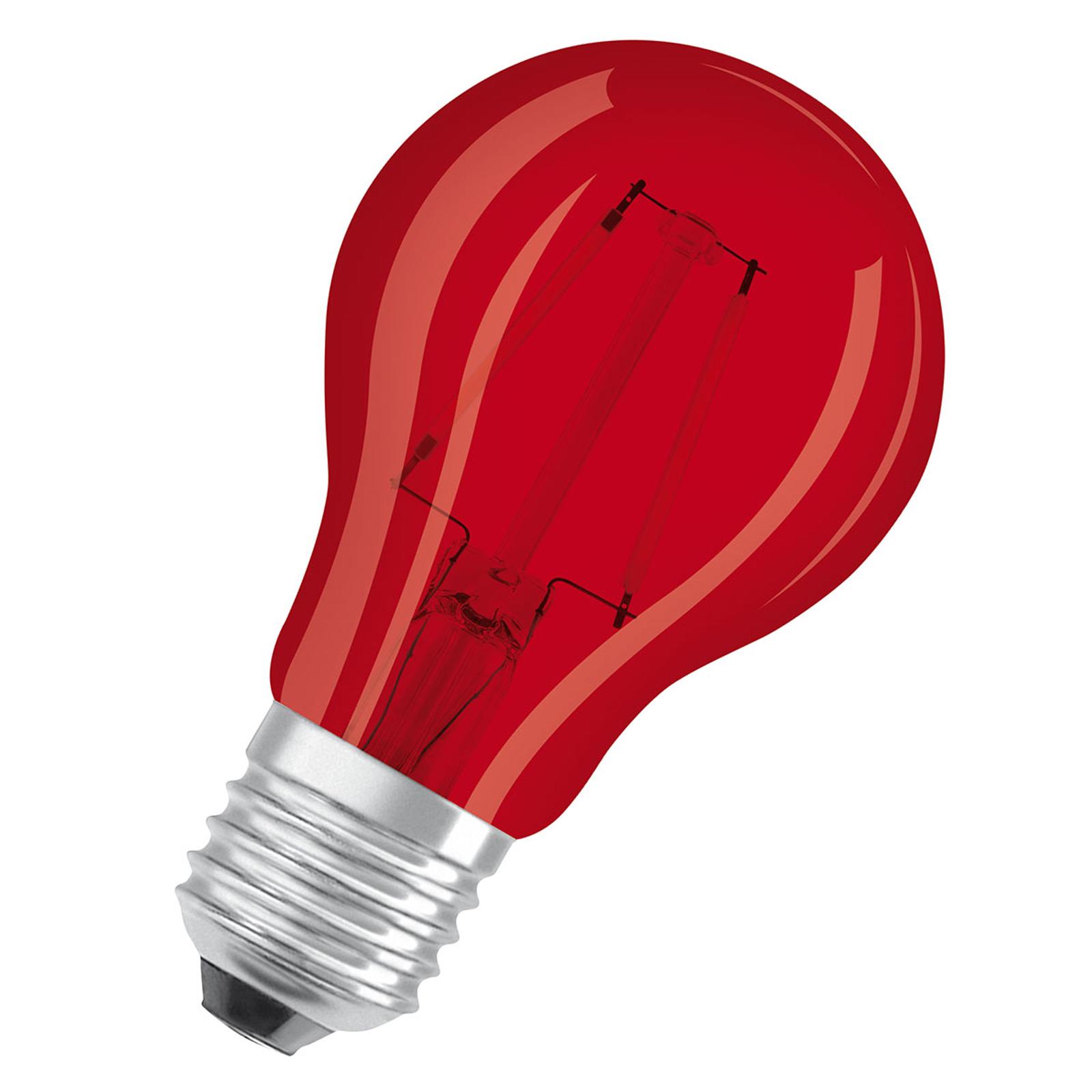 OSRAM LED-Lampe E27 Star Décor Cla A 2,5W, rot