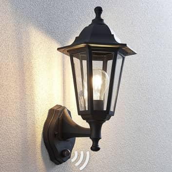 Udendørs væglampe Nane i lanterneform med sensor