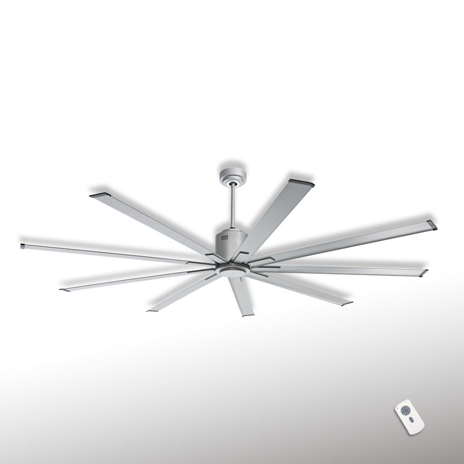 Ventilador de techo Big Smooth Eco, plata titanio