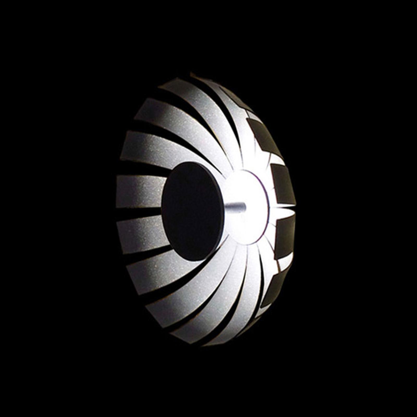 Plafoniera LED di design Loto, antracite, 20 cm
