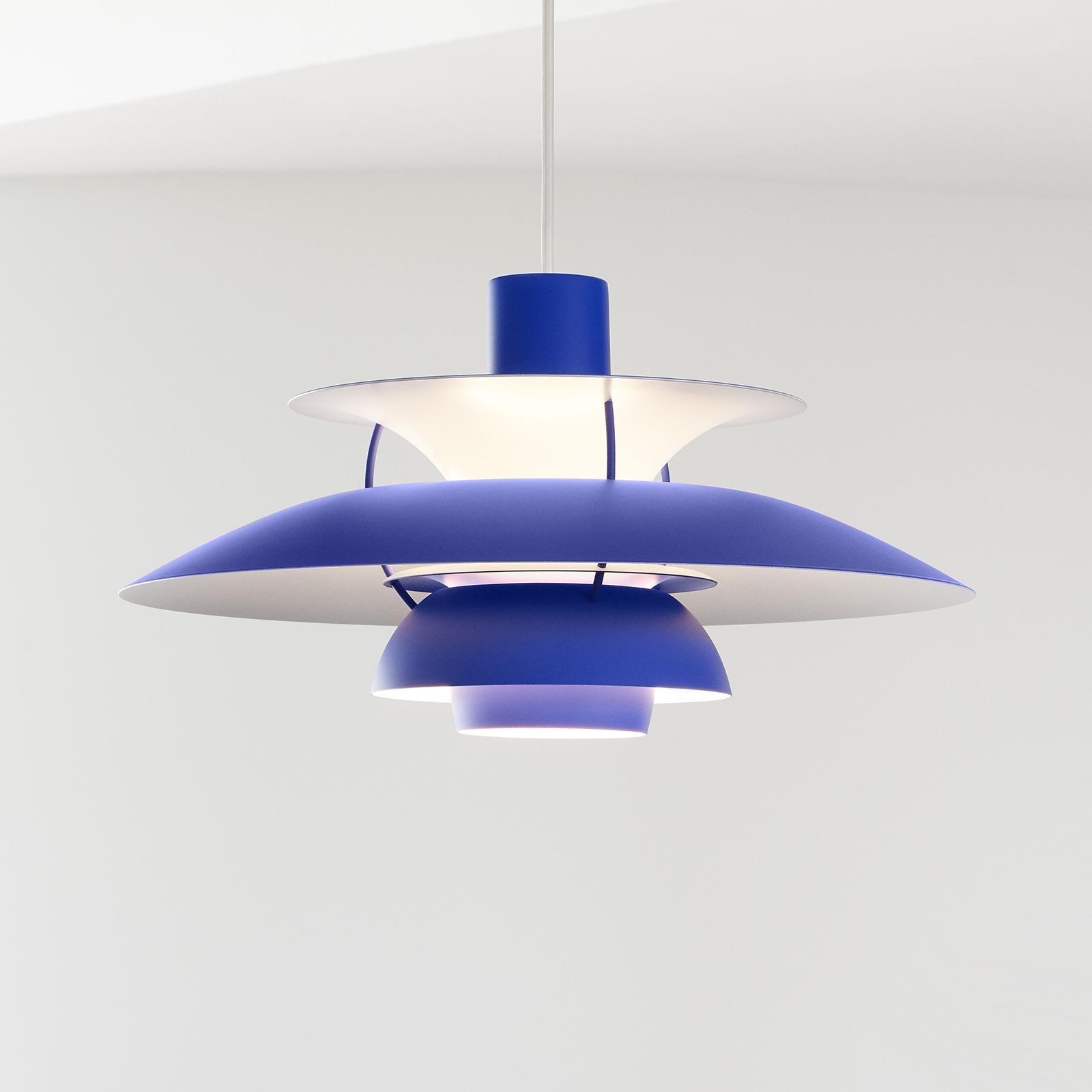 Louis Poulsen PH 5 Mini slinger monochroom blauw