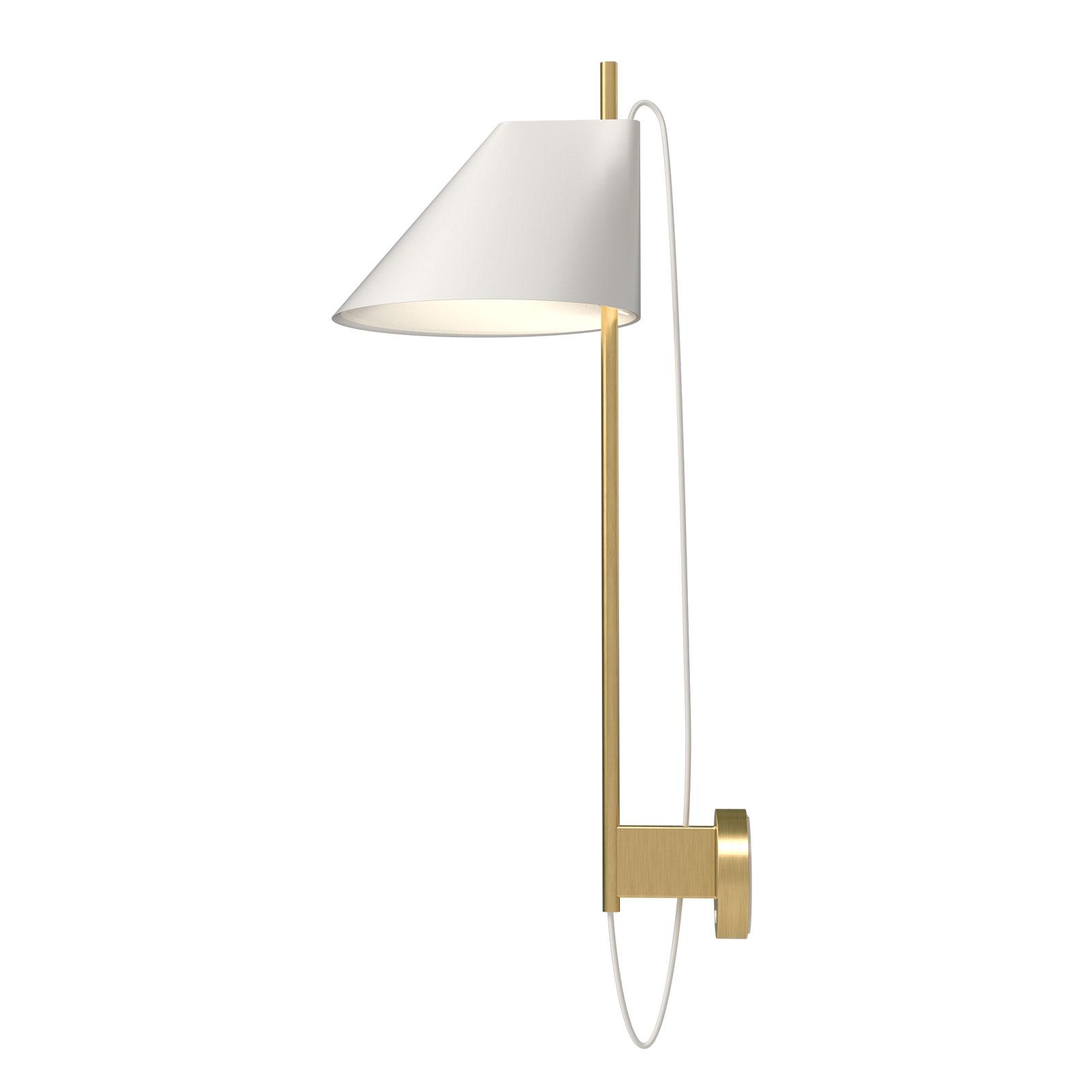Louis Poulsen marmer-wandlamp Yuh Brass, wit