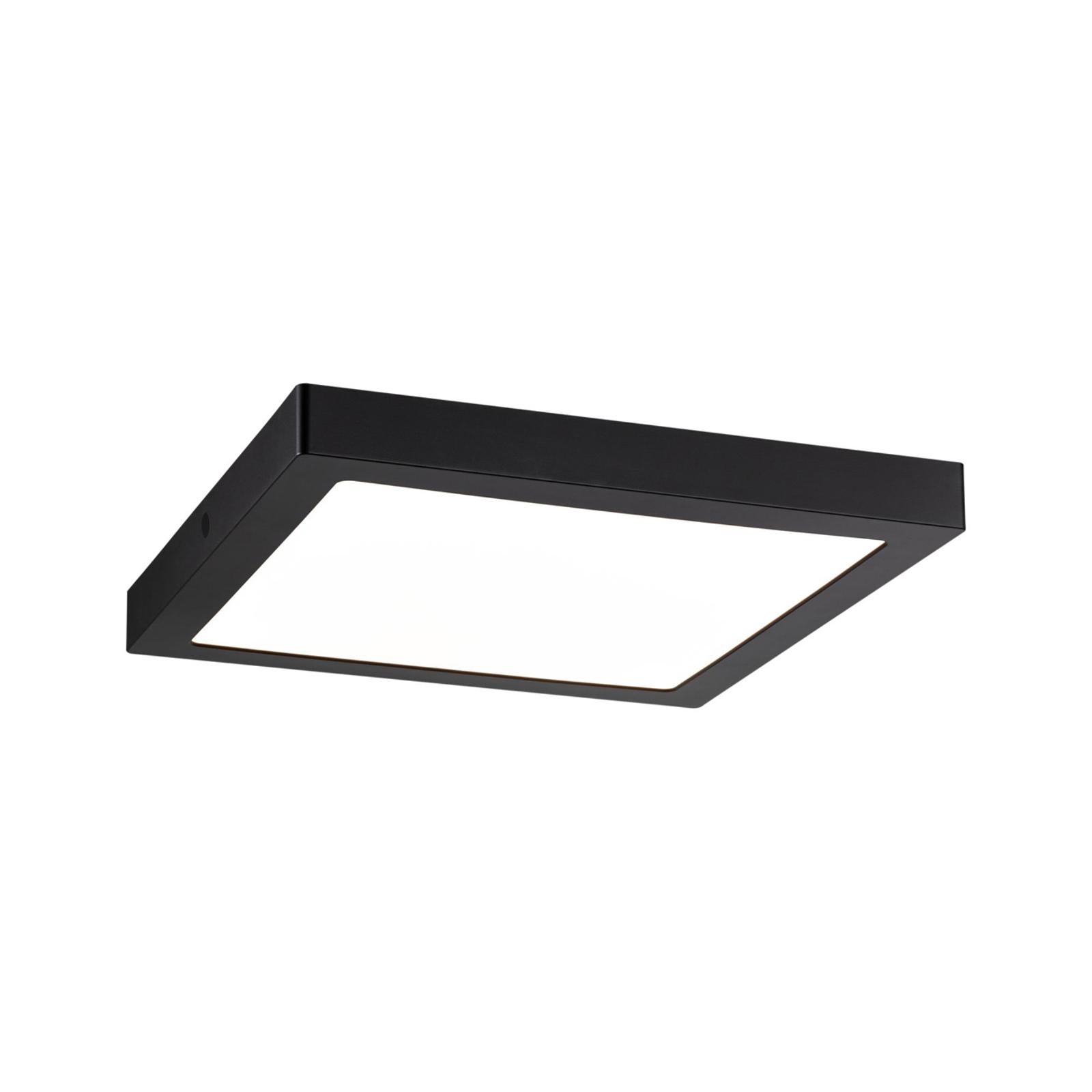 Paulmann Abia LED-Panel eckig, schwarz matt