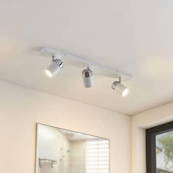 Badkamer plafondlamp Kardo wit met drie lampjes