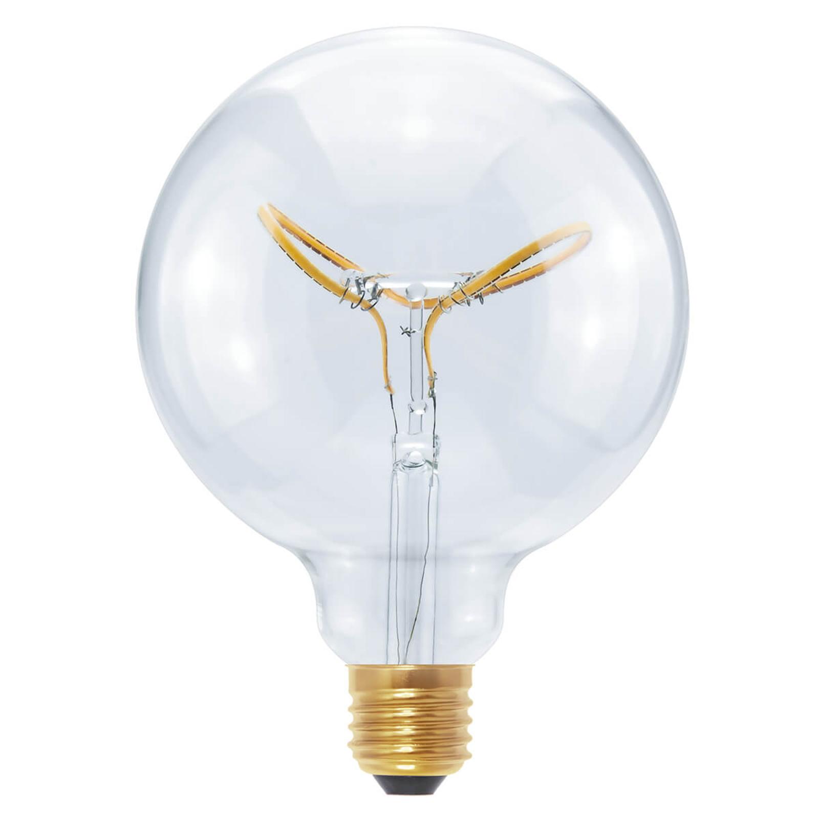 E27 8W 922 LED-Globe Curved Butterfly klar G125