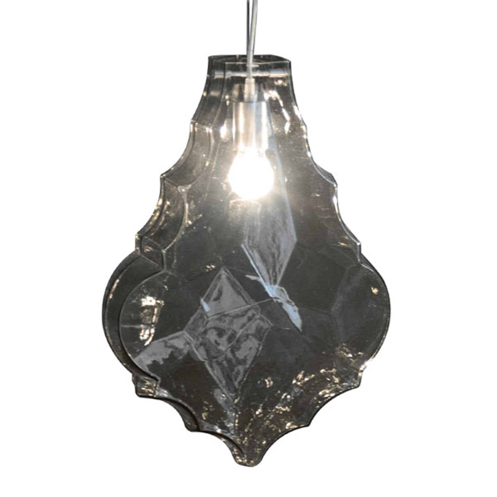 Karman 24 Karati lampa wisząca liść szary dym