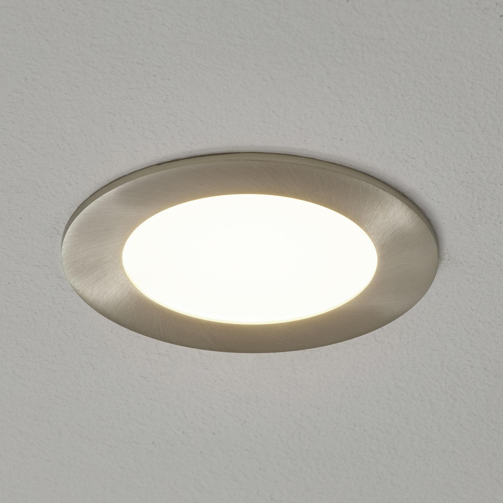 EGLO connect Fueva-C LED-Einbauleuchte nickel 12cm