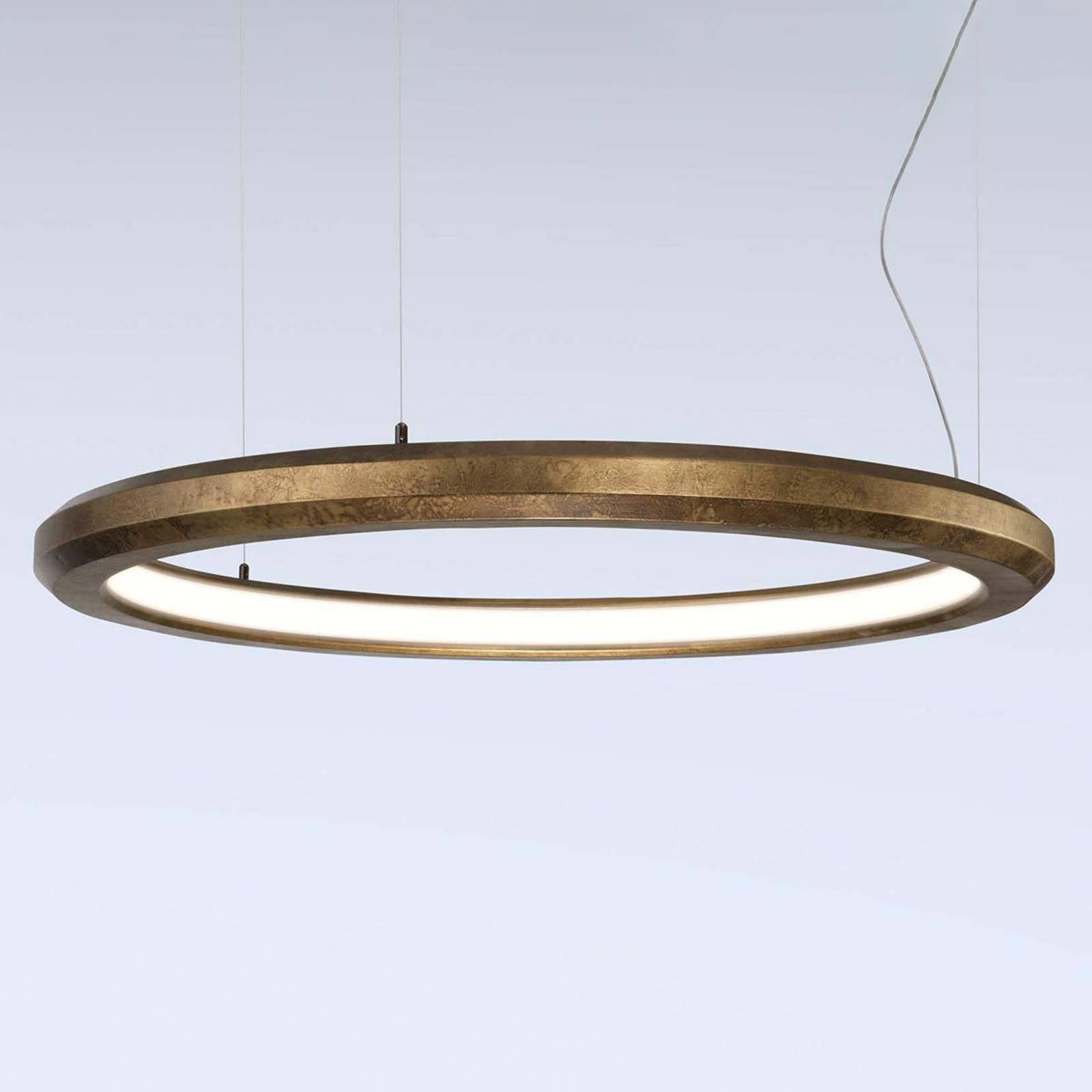 LED-Hängeleuchte Materica innen Ø 90 cm messing