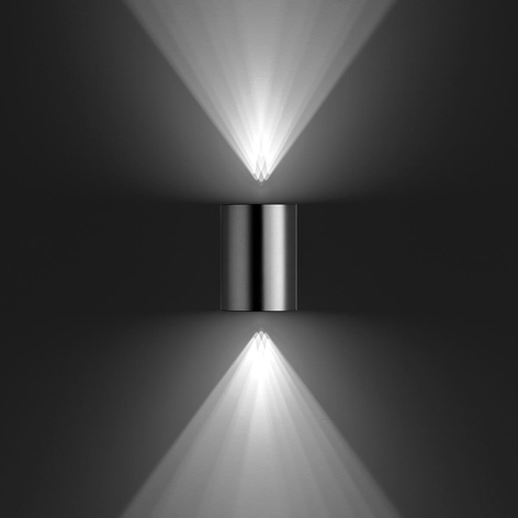Buxus - Led-buitenwandlamp van roestvrij staal