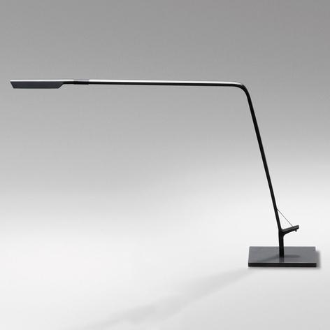 Lámpara de mesa LED gris grafito Flex, atenuador