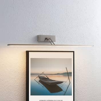 Lucande Thibaud lámpara LED cuadros níquel 83,4 cm