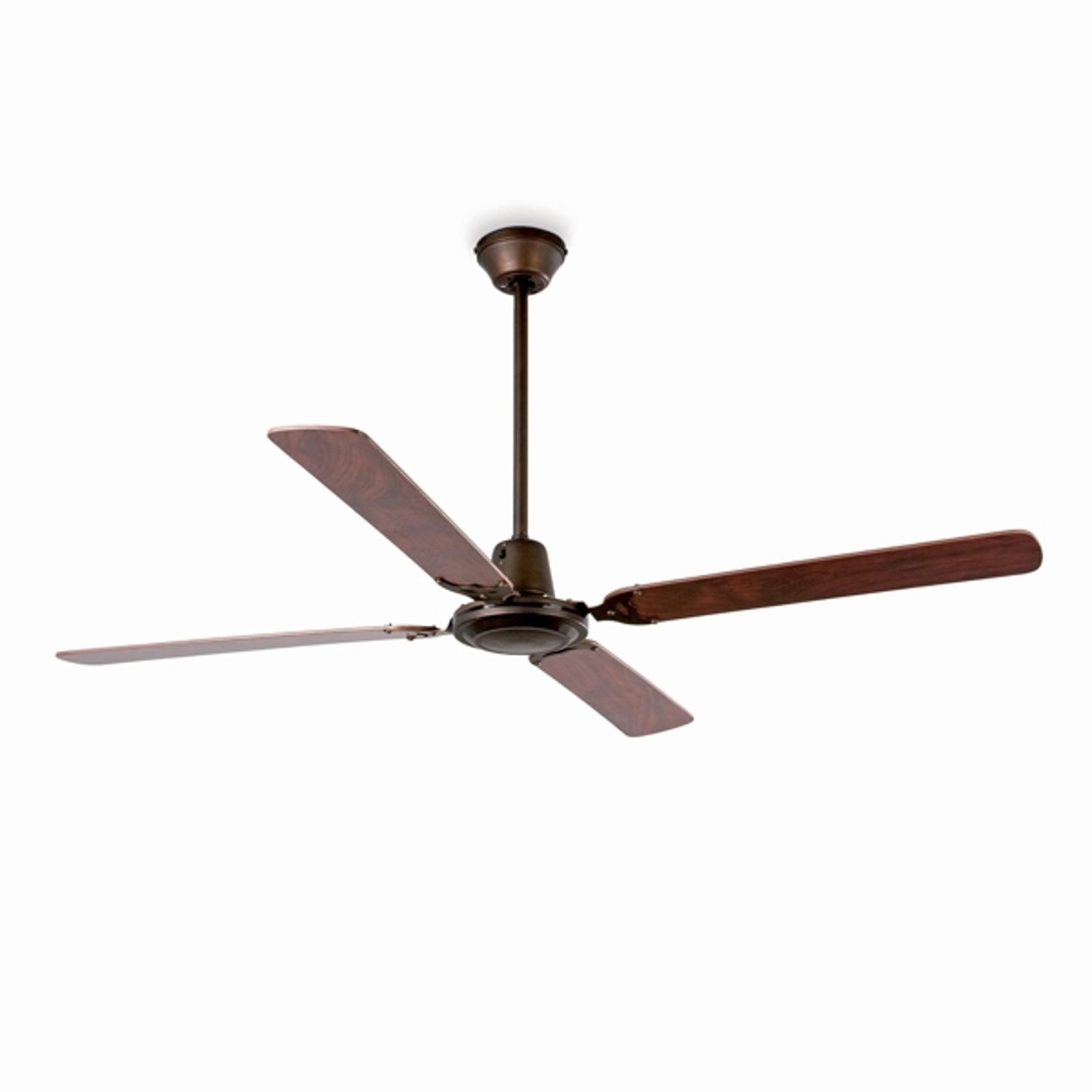 MALVINAS - moderno ventilatore marrone a soffitto