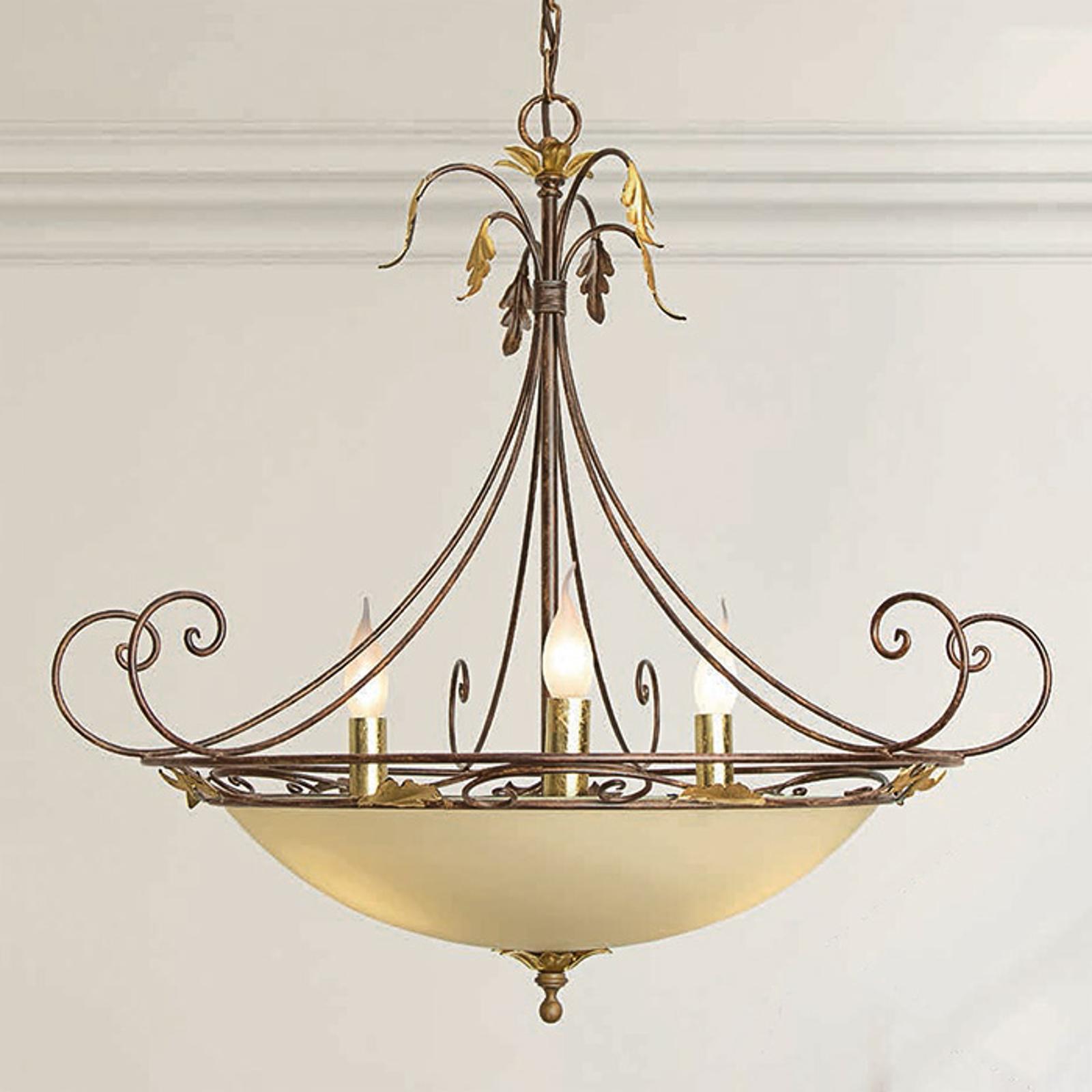 Wystawna lampa wisząca Damiano