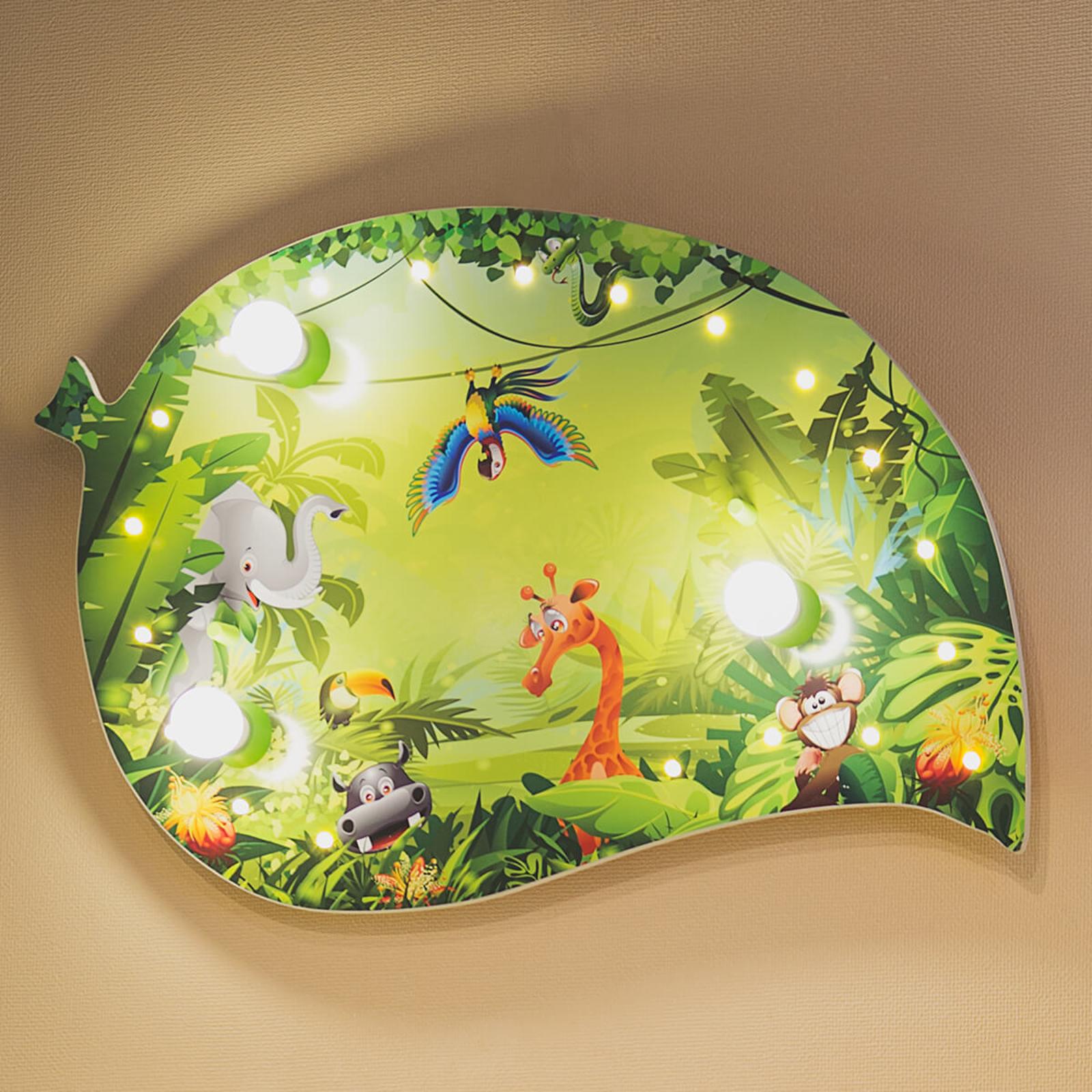 Dziecięca lampa sufitowa Dżungla z efektami LED
