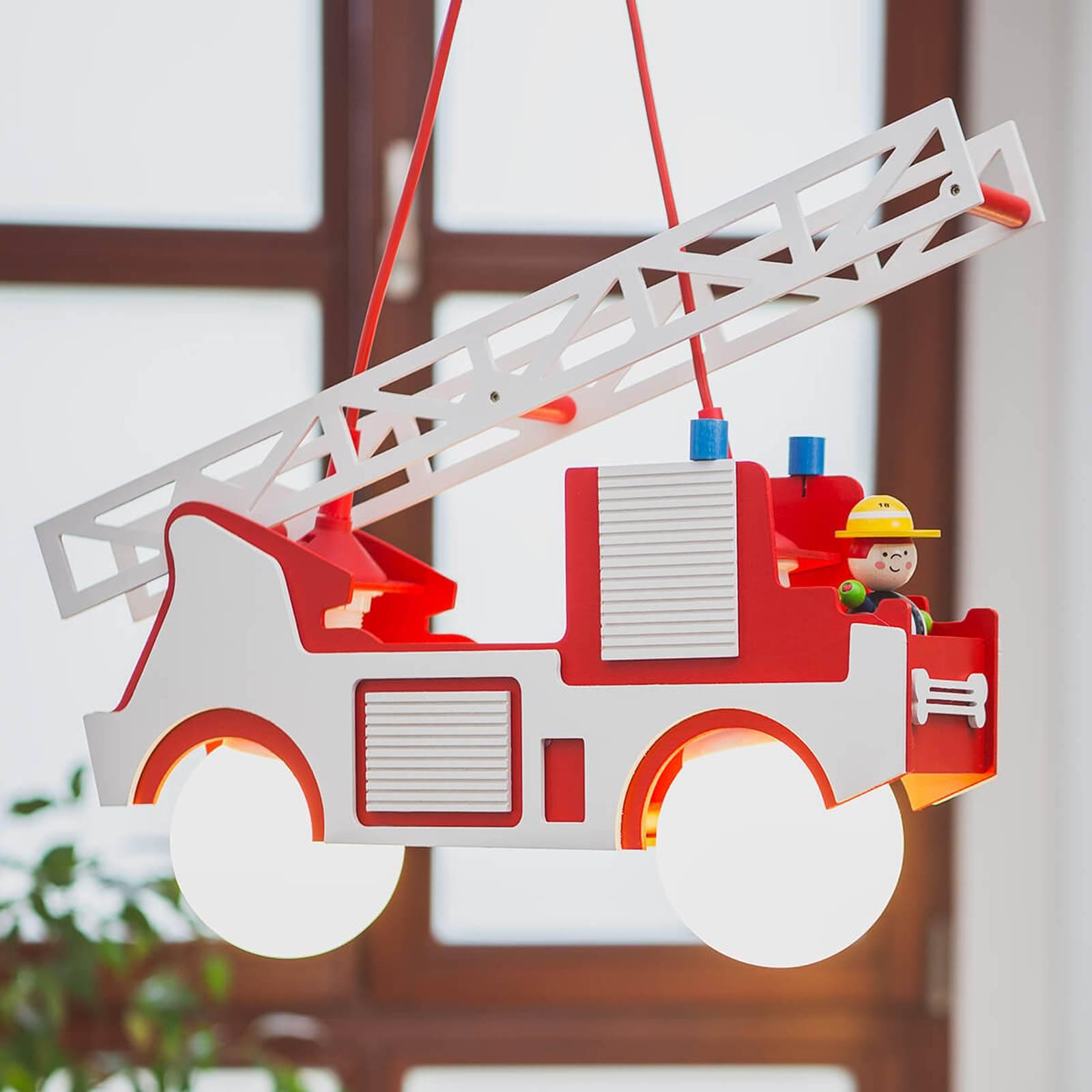 Lampa wisząca Wóz strażacki Fred