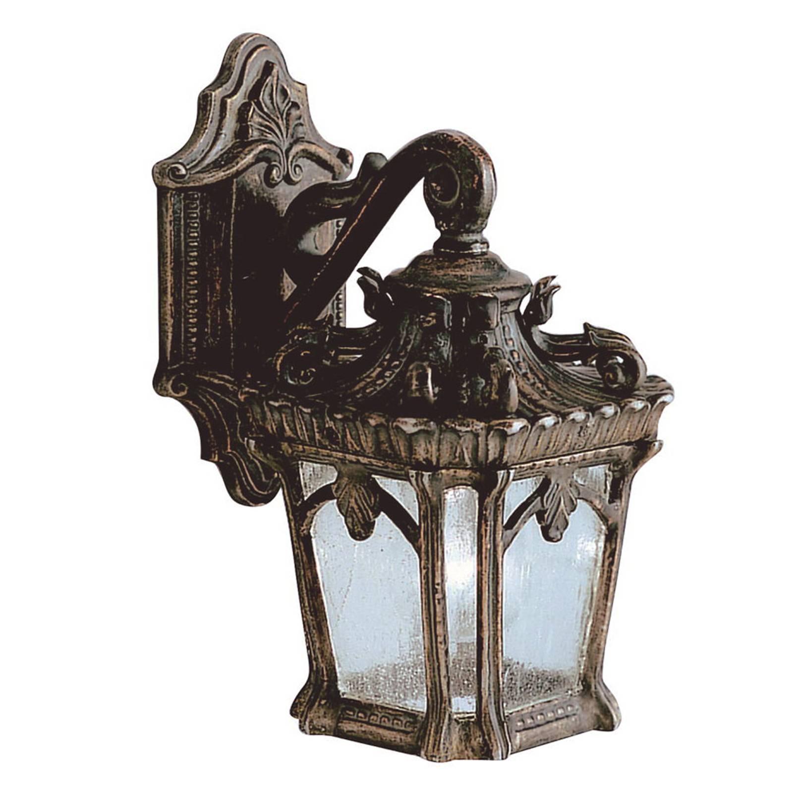 Buitenwandlamp Tournai in antiek ontwerp