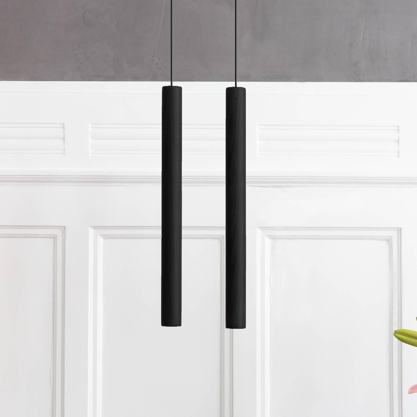 UMAGE Chimes Tall suspension LED chêne noir