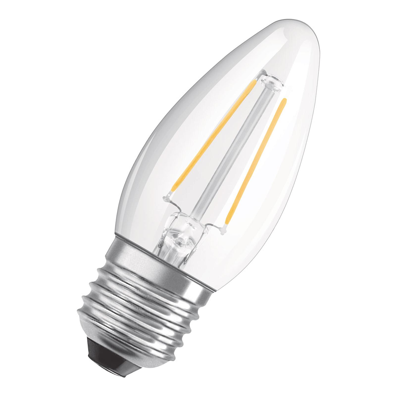 OSRAM LED-Kerzenlampe E27 5W warmweiß dimmbar klar