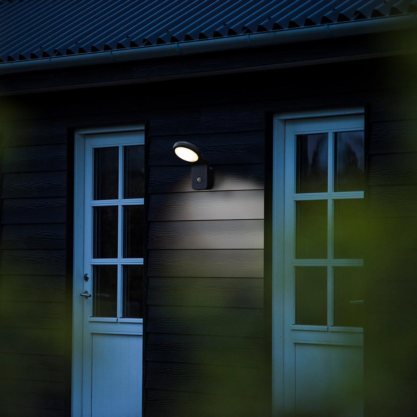 Applique da esterni LED Marina con sensore, nera