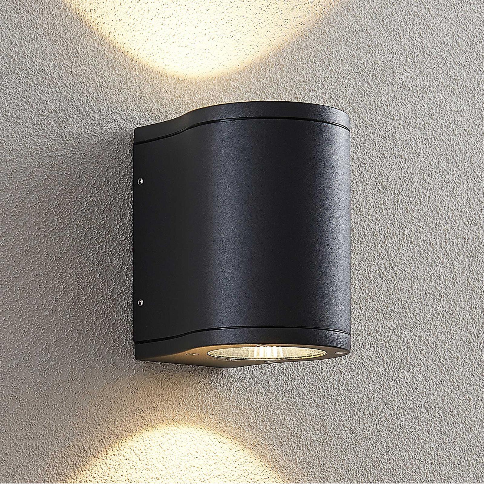 Lucande Janelis -LED-ulkoseinälamppu, tummanharmaa