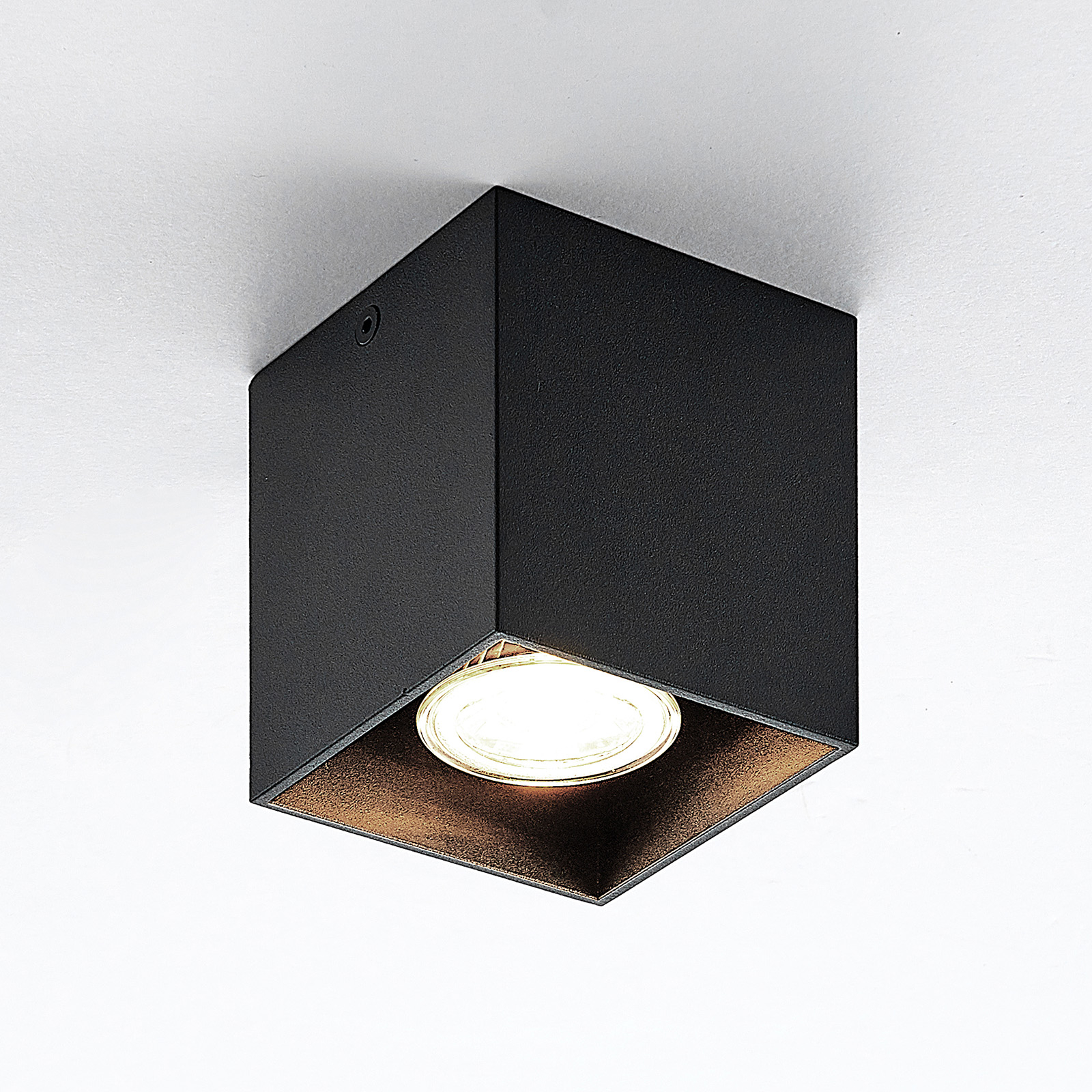 ELC Efey lampa sufitowa, GU10, kątowa, czarna