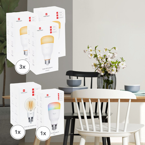 Yeelight Smart 5 LED-Lampen-Set Dim/Color/Filament
