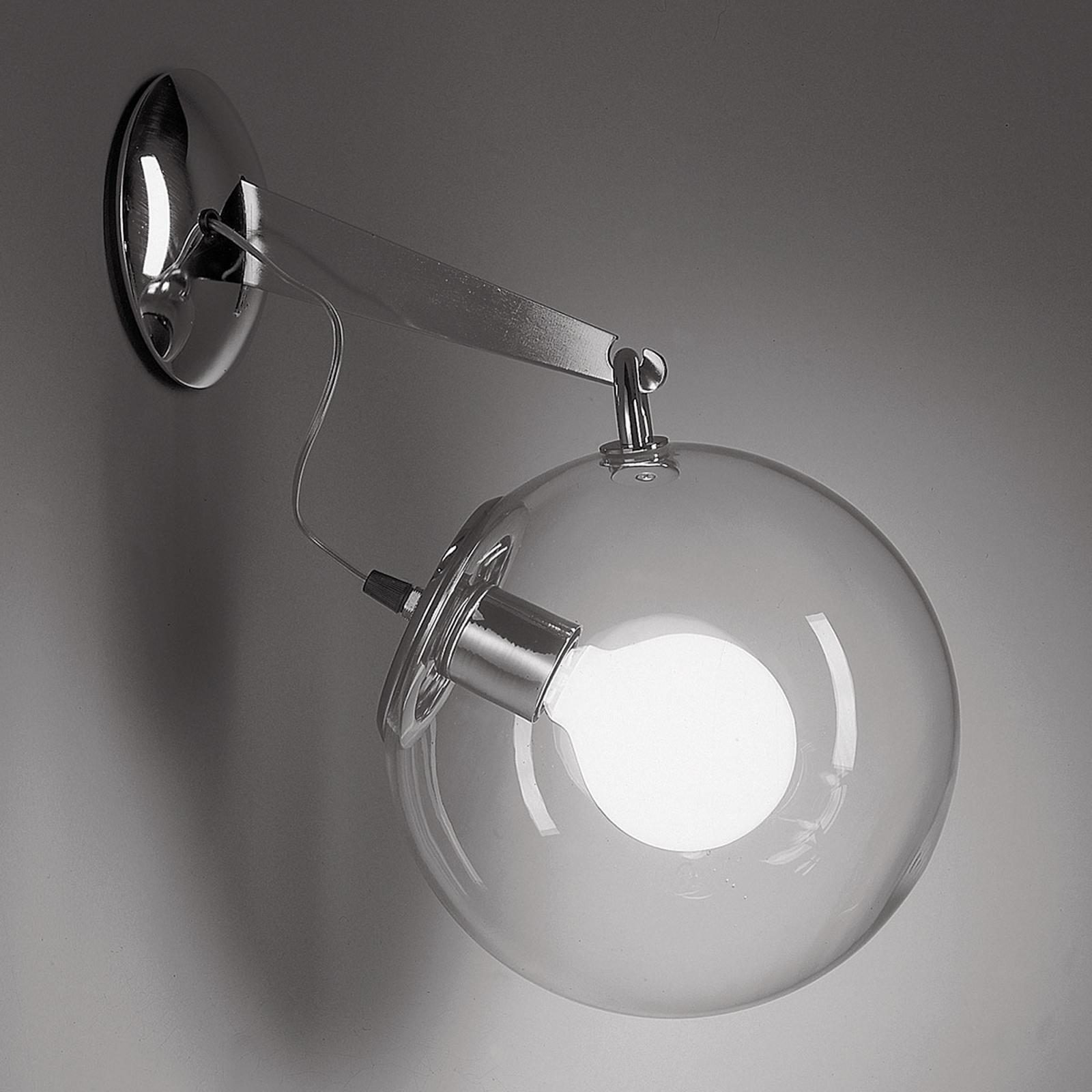 Artemide Miconos glas-væglampe i krom