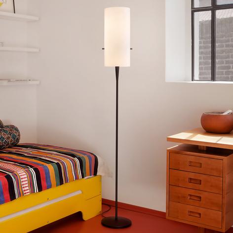 Slank designer gulvlampe Club med chintzskærm