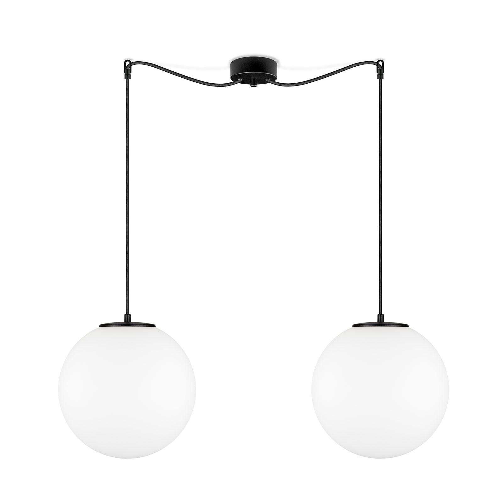 Tsuki L hengelampe, 2 lyskilder, Ø 30 cm, svart