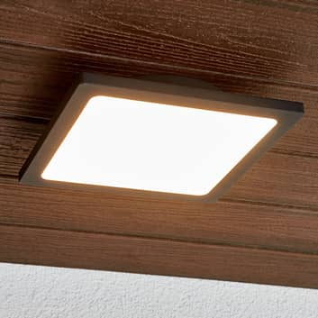 LED buitenplafondlamp Mabella in donkergrijs
