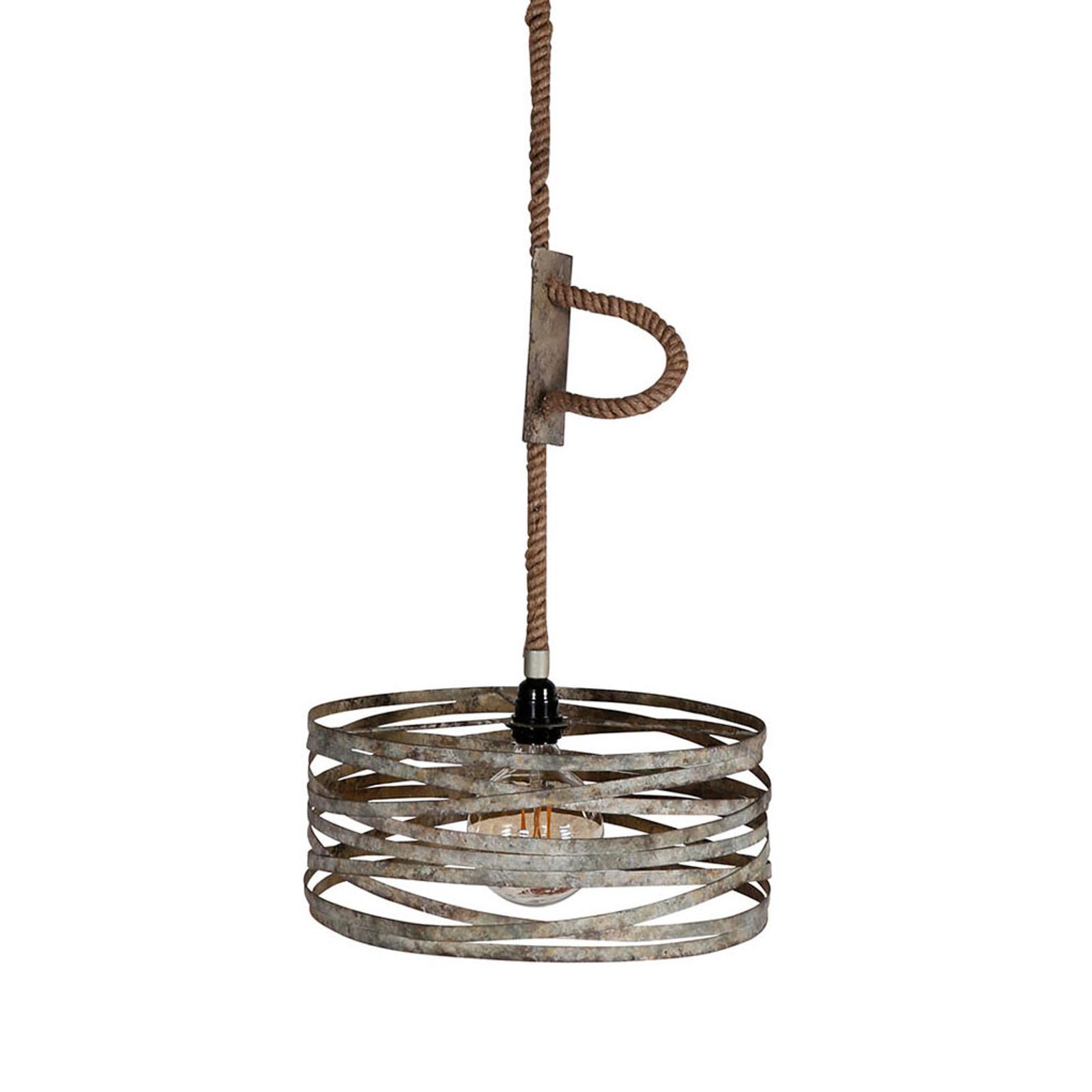 Roperound hængelampe, 1 lyskilde