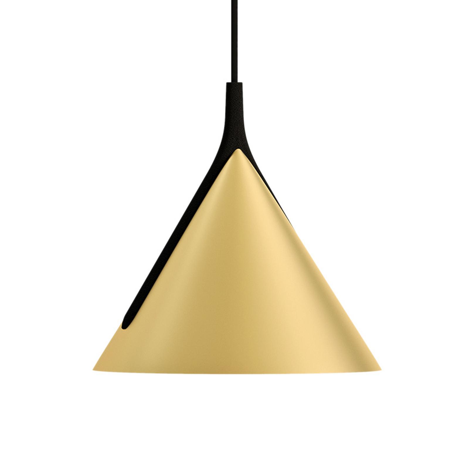 Axolight Jewel Mono Pendel schwarz-gold 2700K 38°
