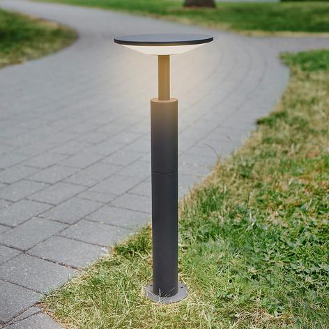 Anthrazitfarbene LED-Wegeleuchte Fenia
